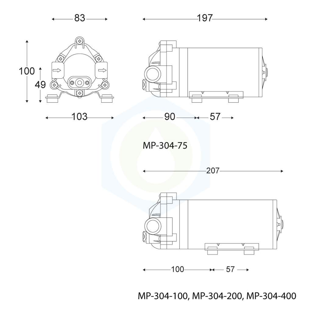 DC3.7V 700mA 4mm Innendurchmesser Schlauch Selbstansaugende Membran Luftpumpe